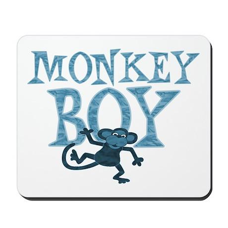 Blue Monkey Boy Mousepad