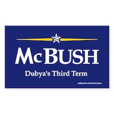 McBush anti John McCain Dubya term Bumper Decal