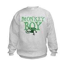 Green Monkey Boy Sweatshirt