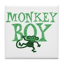 Green Monkey Boy Tile Coaster