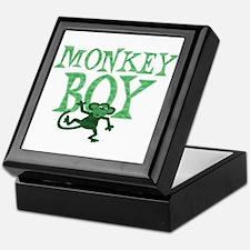 Green Monkey Boy Keepsake Box