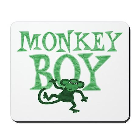 Green Monkey Boy Mousepad