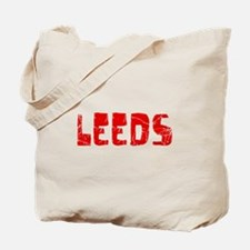 Leeds Faded (Red) Tote Bag