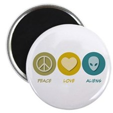 "Peace Love Aliens 2.25"" Magnet (10 pack)"