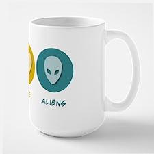 Peace Love Aliens Mug