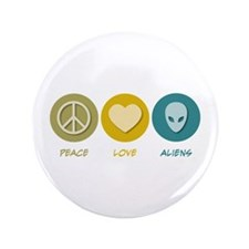 "Peace Love Aliens 3.5"" Button (100 pack)"