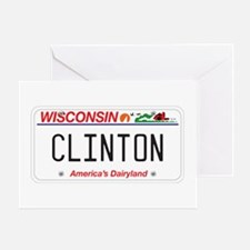 Wisconsin Supports Clinton Greeting Card