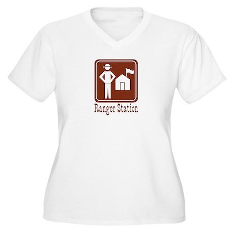 Ranger Station Women's Plus Size V-Neck T-Shirt
