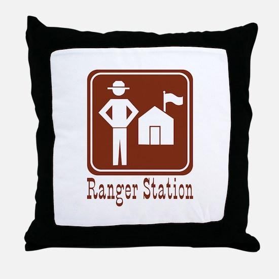 Ranger Station Throw Pillow