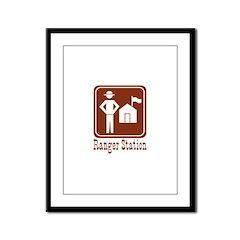 Ranger Station Framed Panel Print