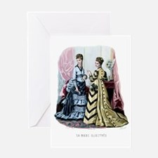 LA MODE ILLUSTREE - 1875 Greeting Card