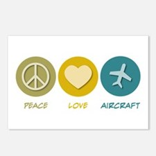 Peace Love Aircraft Postcards (Package of 8)