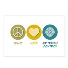 Peace Love Air Traffic Control Postcards (Package