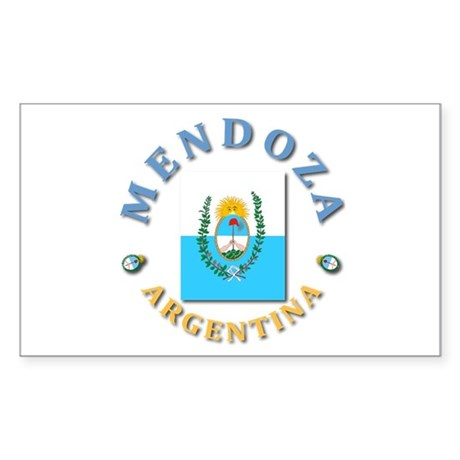 Mendoza Rectangle Sticker
