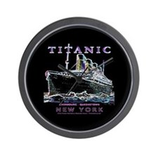 Titanic Neon (black) Wall Clock