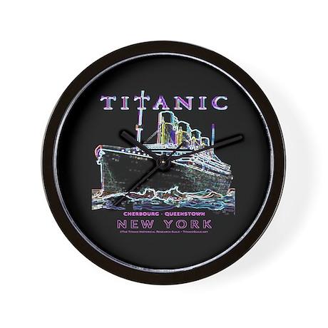 Titanic Neon (black) Wall Clock