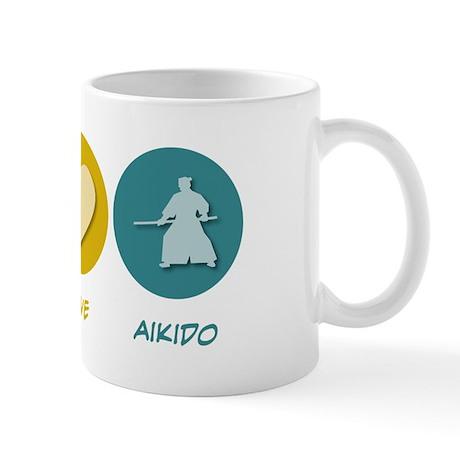 Peace Love Aikido Mug
