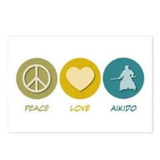 Peace Love Aikido Postcards (Package of 8)