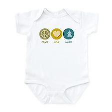 Peace Love Aikido Infant Bodysuit