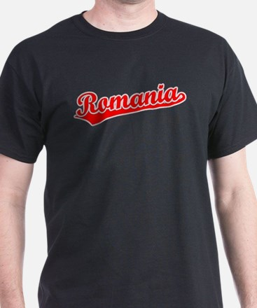 Romania souvenir gifts merchandise romania souvenir gift ideas retro romania red t shirt negle Choice Image