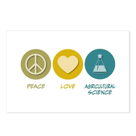 Peace Love Agricultural Science Postcards (Package