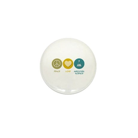 Peace Love Agricultural Science Mini Button (10 pa