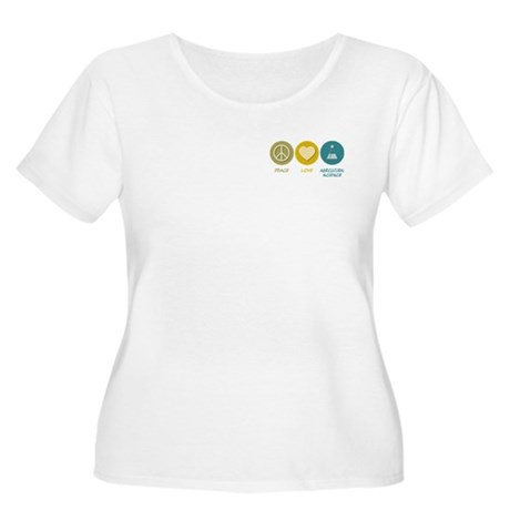 Peace Love Agricultural Science Women's Plus Size