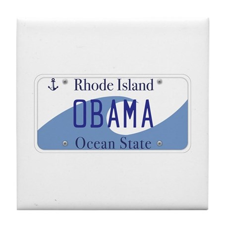 Rhode Island Supports Obama Tile Coaster