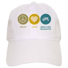 Peace Love Agricultural Mechanization Baseball Cap