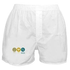 Peace Love Agricultural Inspector Boxer Shorts