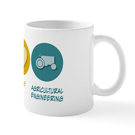 Peace Love Agricultural Engineering Mug
