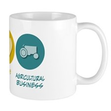 Peace Love Agricultural Business Mug