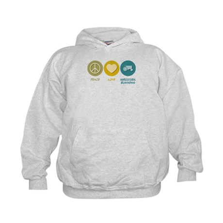 Peace Love Agricultural Business Kids Hoodie
