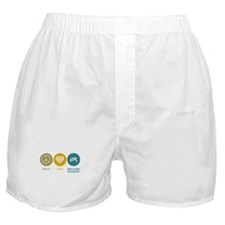 Peace Love Agricultural Business Boxer Shorts