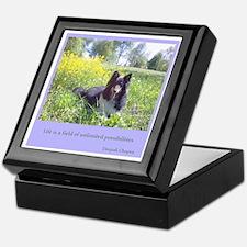 Wildflower Sheltie Keepsake Box
