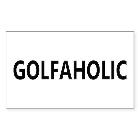 Golfaholic Rectangle Sticker