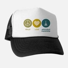 Peace Love Aerospace Engineering Trucker Hat