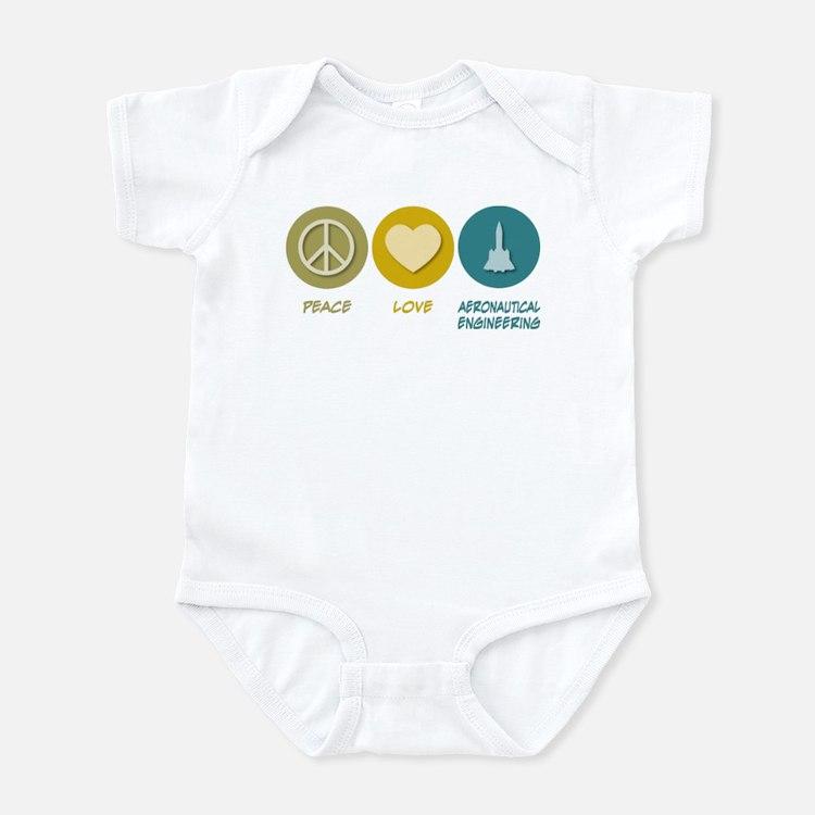 Peace Love Aeronautical Engineering Infant Bodysui
