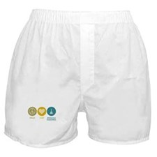 Peace Love Aeronautical Engineering Boxer Shorts