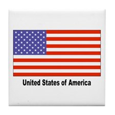 United States Flag Tile Coaster