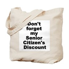 Cute Senior citizen Tote Bag