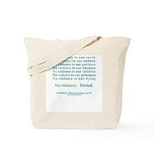 No Violence Tote Bag