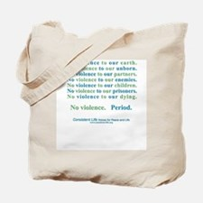 No Violence Tote Bag