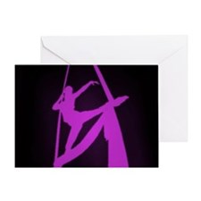 Aerial Showgirls Single Greeting Card
