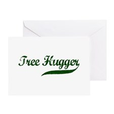 Tree Hugger (Script) Greeting Card