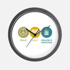Peace Love Administrative Assisting Wall Clock