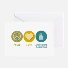 Peace Love Administrative Assisting Greeting Card