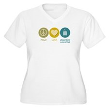 Peace Love Administrative Assisting T-Shirt