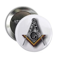 "Masonic Square and Compass 2.25"" Button (10 pack)"