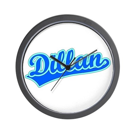Retro Dillan (Blue) Wall Clock